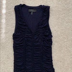 Rugged Robert Rodriquez navy blue dress